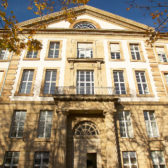The outer facade of the University of Karlsruhe.